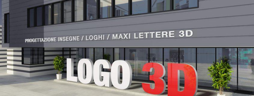 Insegne, maxi lettere, loghi, scritte tridimensionali 3D - www.logo3d.it